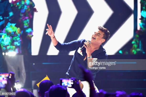 Silvestre Dangond performs on stage during Univision's 'Premios Juventud' 2017 Celebrates The Hottest Musical Artists And Young Latinos ChangeMakers...