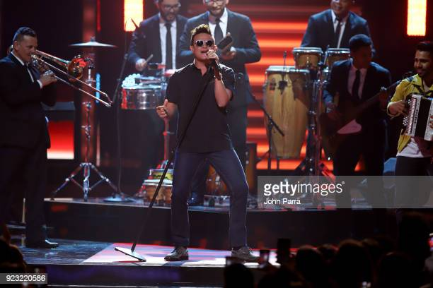 Silvestre Dangond performs onstage at Univision's 30th Edition Of 'Premio Lo Nuestro A La Musica Latina' at American Airlines Arena on February 22...