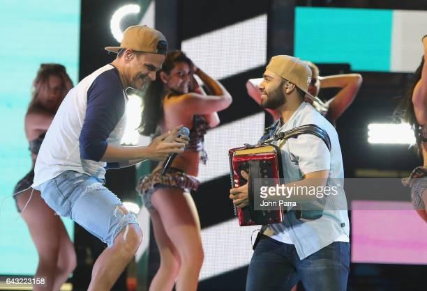 Silvestre Dangond rehearses on stage at Univision's 29th Edition Of Premio Lo Nuestro A La Musica Latina Rehearsals Day 1 on February 20 2017 in...