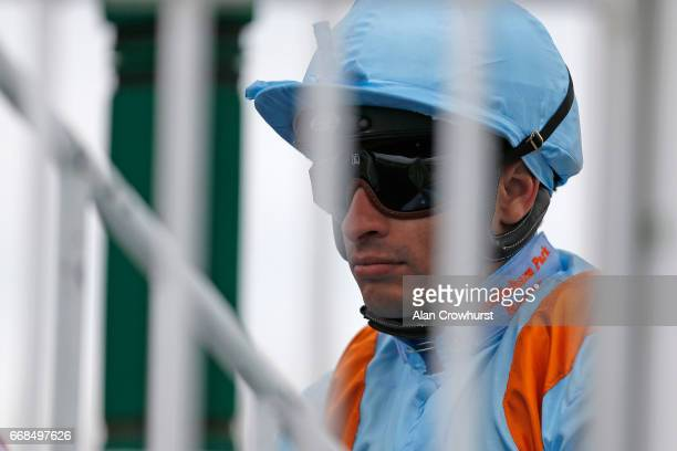 Silvestre De Sousa during The All Weather Championships Finals Day at Lingfield Park on April 14 2017 in Lingfield England