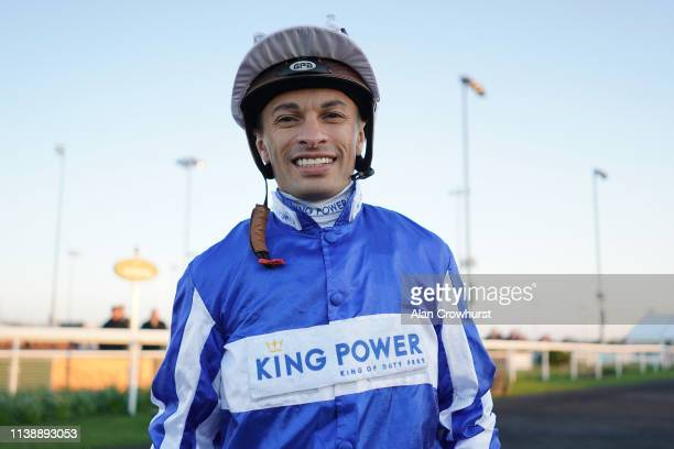 Silvestre De Sousa poses at Chelmsford City Racecourse on March 28, 2019 in Chelmsford, England.