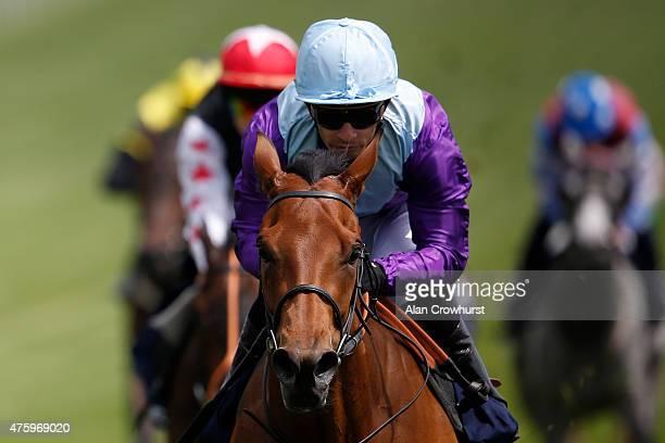 Silvestre De Sousa riding Arabian Queen win The Princess Elizabeth Stakes at Epsom racecourse on June 05 2015 in Epsom England