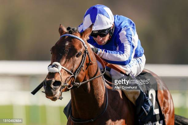 Silvestre De Sousa riding Bangkok win The Betway Easter Classic All-Weather Middle Distance Championships Conditions Stakes at Lingfield Park...