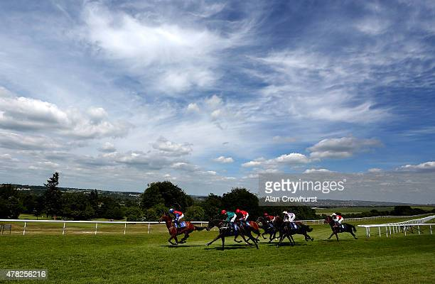 Silvestre De Sousa riding Montsarrat wins The Ashbrittle Stud EBF Stallions Blagrave Maiden Stakes at Salisbury racecourse on June 24 2015 in...
