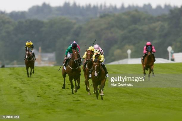 Silvestre De Sousa riding UAE King win The John Guest Brown Jack Handicap Stakes at Ascot racecourse on July 28 2017 in Ascot England