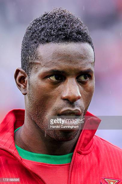 Silvestre Varela in the line up before the international friendly match between Portugal and Croatia on June 10 2013 in Geneva Switzerland