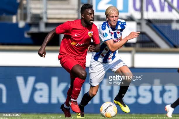 Silvestre Varela of Kayserispor Morten Thorsby of sc Heerenveen during the Friendly match between sc Heerenveen and Kayserispor at Abe Lenstra...