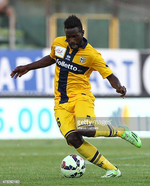 Silvestre Varela of Parma FC in action during the Serie A match between Parma FC and SSC Napoli at Stadio Ennio Tardini on May 10 2015 in Parma Italy