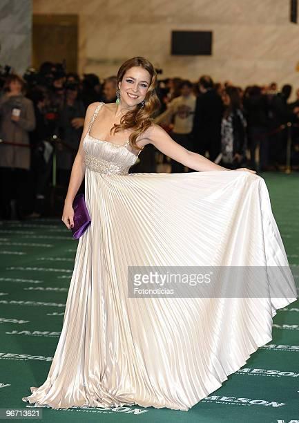 Silvia Abascal arrives to the 2010 edition of the 'Goya Cinema Awards' ceremony at the Palacio de Congresos on February 14, 2010 in Madrid, Spain.