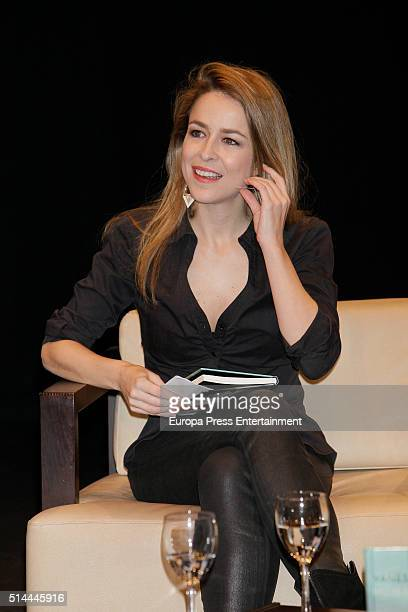 Silvia Abascal attends first poem book 'Mujer Oceano' written by Vanesa Martin on March 8 2016 in Madrid Spain