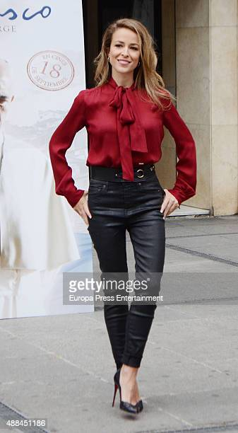 Silvia Abascal attends 'Francisco' photocall the first movie that deal with Pope Francis on September 15 2015 in Madrid Spain