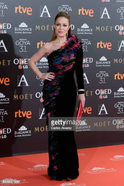 Silvia Abascal attends Goya Cinema Awards 2017 at Madrid Marriott Auditorium on February 4 2017 in Madrid Spain
