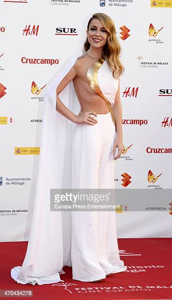 Silvia Abascal attends the 18th Malaga Film Festival opening ceremony on April 17 2015 in Malaga Spain