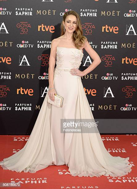 Silvia Abascal attends the Goya Cinema Awards 2016 Ceremony at Madrid Marriott Auditorium on February 6 2016 in Madrid Spain