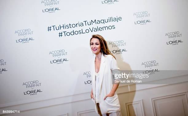 Silvia Abascal during L'Oreal Paris Presents 'Accord Parfit' Collection on September 12 2017 in Madrid Spain