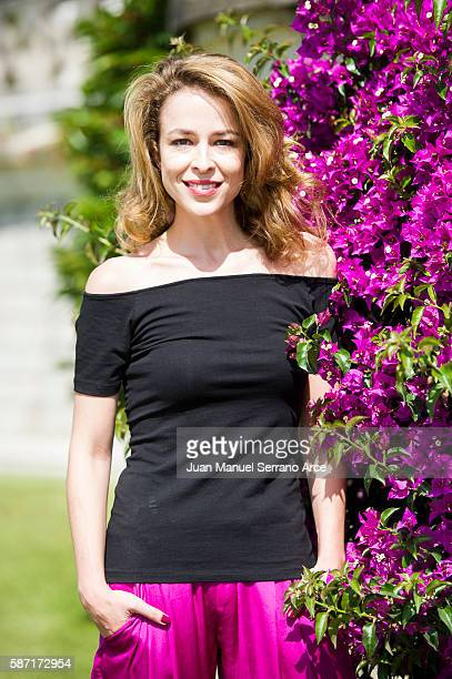 Silvia Abascal poses at the International Menendez Pelayo University on August 8 2016 in Santander Spain