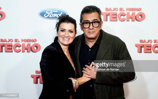 Silvia Abril and Andreu Buenafuente attend 'Bajo El Mismo Techo' Madrid Premiere on January 24 2019 in Madrid Spain
