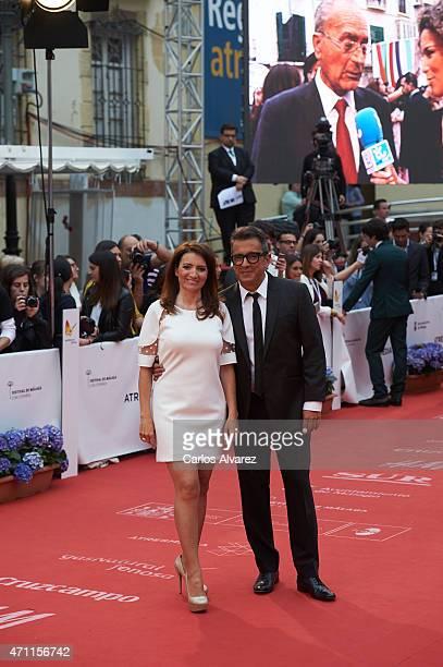 Silvia Abril and Andreu Buenafuente attend the 18th Malaga Spanish Film Festival close ceremony at the Cervantes Theater on April 25 2015 in Malaga...