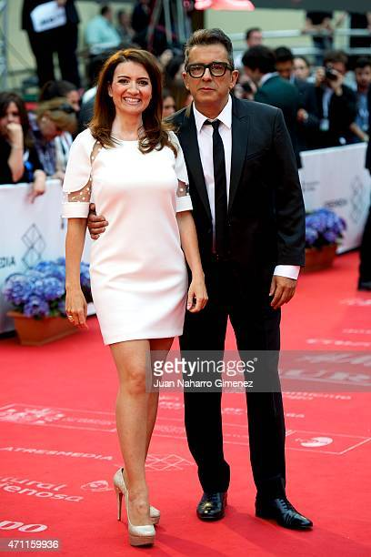 Silvia Abril and Andreu Buenafuente attend the 'Solo Quimica' premiere during the 18th Malaga Spanish Film Festival at the Cervantes Theater on April...