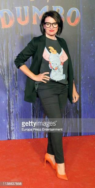 Silvia Abril attends 'Dumbo' premiere at Principe Pio Theatre on March 27 2019 in Madrid Spain