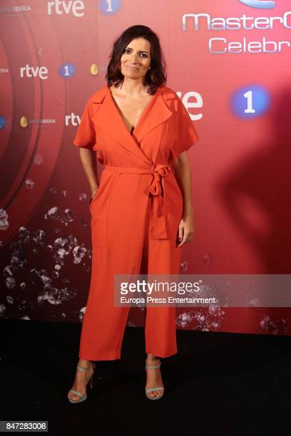 Silvia Abril attends 'MasterChef Celebrity' 2 presentation on September 14 2017 in Madrid Spain
