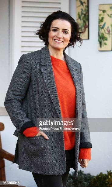 Silvia Abril is seen during 'Bajo El Mismo Techo' set filming on March 20 2018 in Madrid Spain