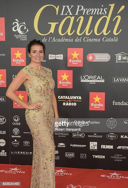 Silvia Abril poses on the red carpet for the Gaudi Awards 2016 held at the Forum on January 29 2017 in Barcelona Spain