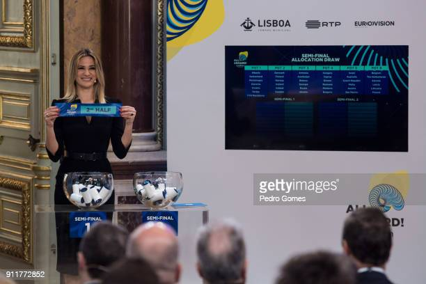 Silvia Alberto who will be part of the presenting team for Eurovision 2018 during the semifinal allocation draw on January 29 2018 in Lisbon Portugal