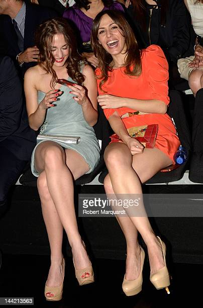 Silvia Alonso and Irene Montala attend the Pronovias Fashion show at the Museu Nacional d'Art de Catalunya on May 11 2012 in Barcelona Spain