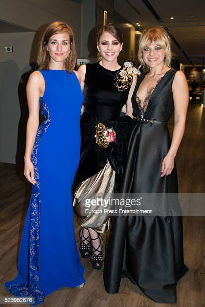 Silvia Alonso Andrea Duro and Thais Blume attend the 19th Malaga Spanish Film Festival at Cervantes Theater on April 22 2016 in Malaga Spain
