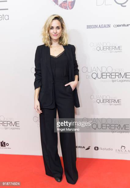 Silvia Alonso attends 'Cuando Dejes De Quererme' Madrid Premiere on February 15 2018 in Madrid Spain