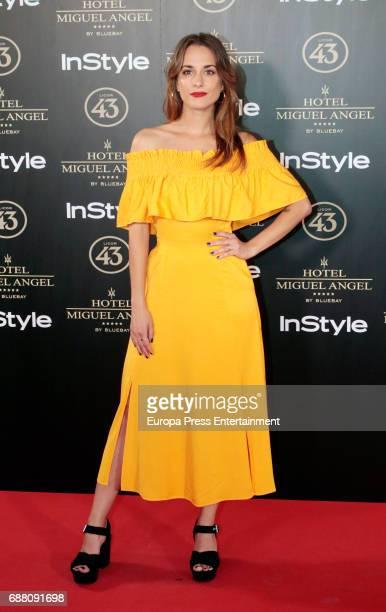 Silvia Alonso attends 'El Jardin de Miguel Angel' terrace inauguration on May 24 2017 in Madrid Spain
