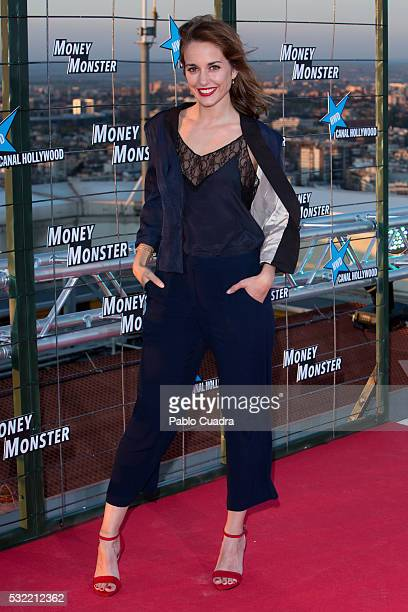Silvia Alonso attends 'Money Monster' premiere at Picasso Tower roof on May 18 2016 in Madrid Spain