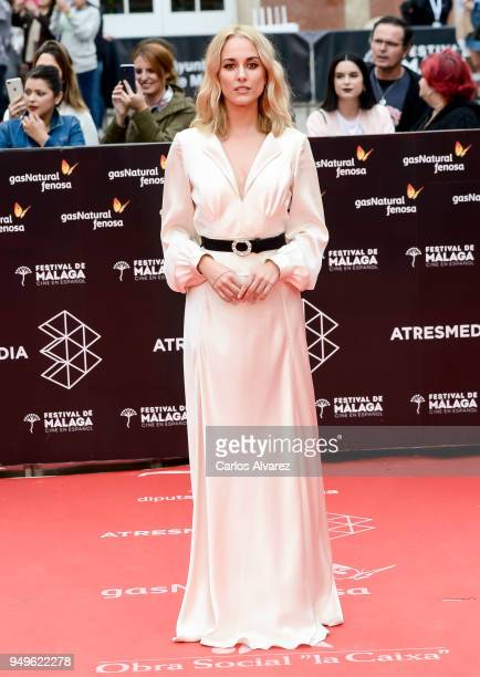 Silvia Alonso attends the 21th Malaga Film Festival closing ceremony at the Cervantes Teather on April 21 2018 in Malaga Spain