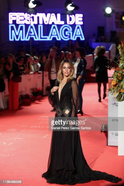 Silvia Alonso attends the 'Malaga' award 2019 during the 22th Malaga Film Festival at the Cervantes Theater on March 17 2019 in Malaga Spain