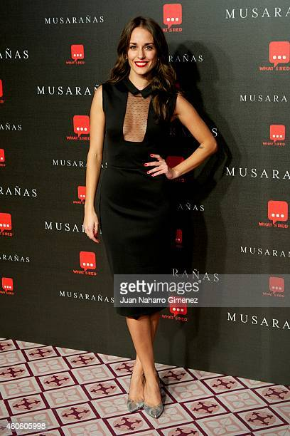 Silvia Alonso attends the Musaranas premiere at the Capitol cinema on December 17 2014 in Madrid Spain