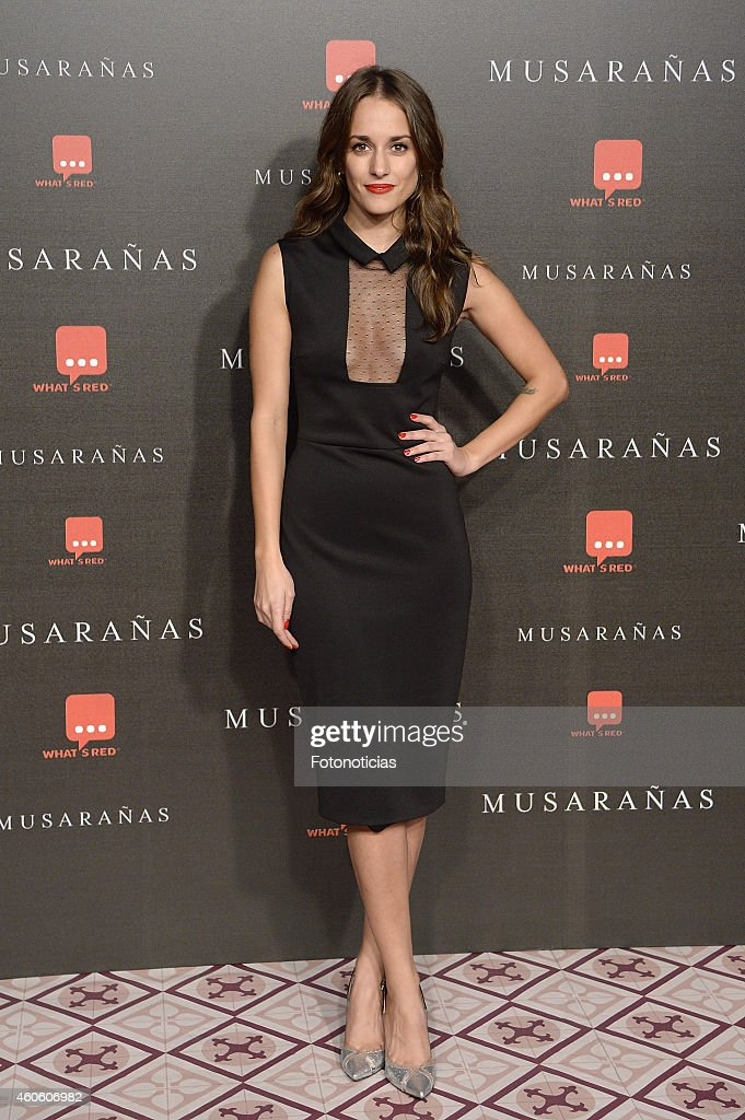 Silvia Alonso attends the 'Musaranas' Premiere at the Capitol Cinema on December 17, 2014 in Madrid, Spain.