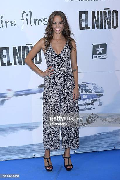 Silvia Alonso attends the premiere of 'El Nino' at Kinepolis Cinema on August 28 2014 in Madrid Spain