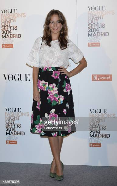 Silvia Alonso attends the Vogue Fashion's Night Out Madrid 2014 on September 18 2014 in Madrid Spain
