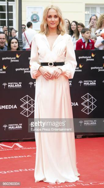 Silvia Alonso during the 21th Malaga Film Festival closing ceremony at the Cervantes Teather on April 21 2018 in Malaga Spain
