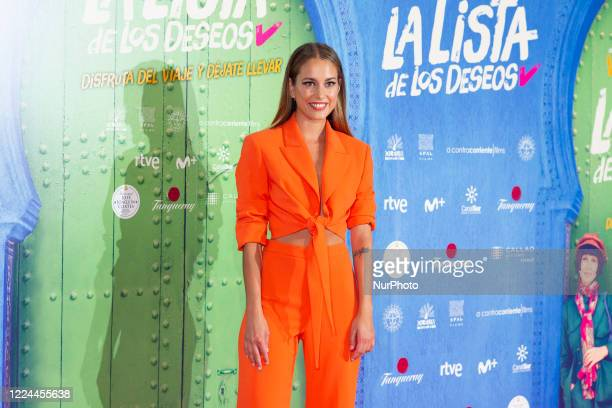 Silvia Alonso poses for the photographers during the premiere of the film 'La lista de deseos' directed by Spanish film maker Alvaro Diaz Lorenzo at...