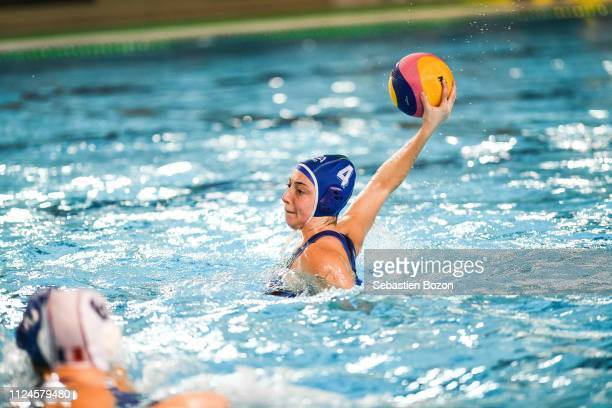 Silvia Avegnoi of Italia during the Women's International Match Water Polo match between France and Italy on February 12 2019 in Mulhouse France
