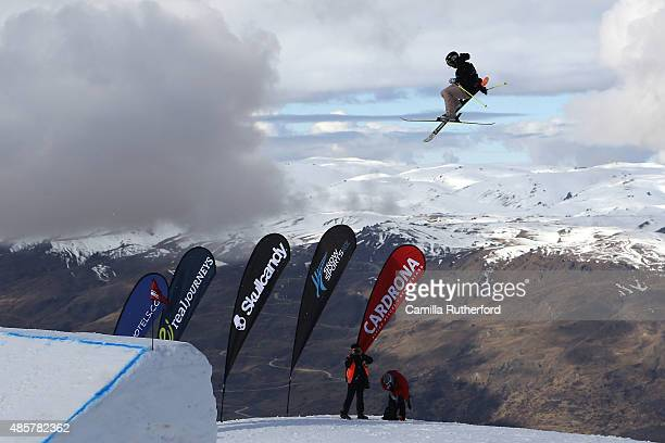 Silvia Bertagna of Italy competes in the Snowboard AFP Freeski Big Air Finals during the Winter Games NZ at Cardrona Alpine Resort on August 30 2015...