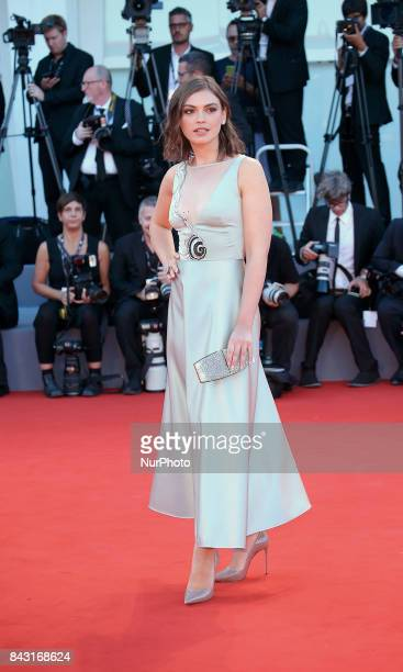 Silvia Busuioc walks the red carpet ahead of the 'mother' screening during the 74th Venice Film Festival at Sala Grande on September 5 2017 in Venice...