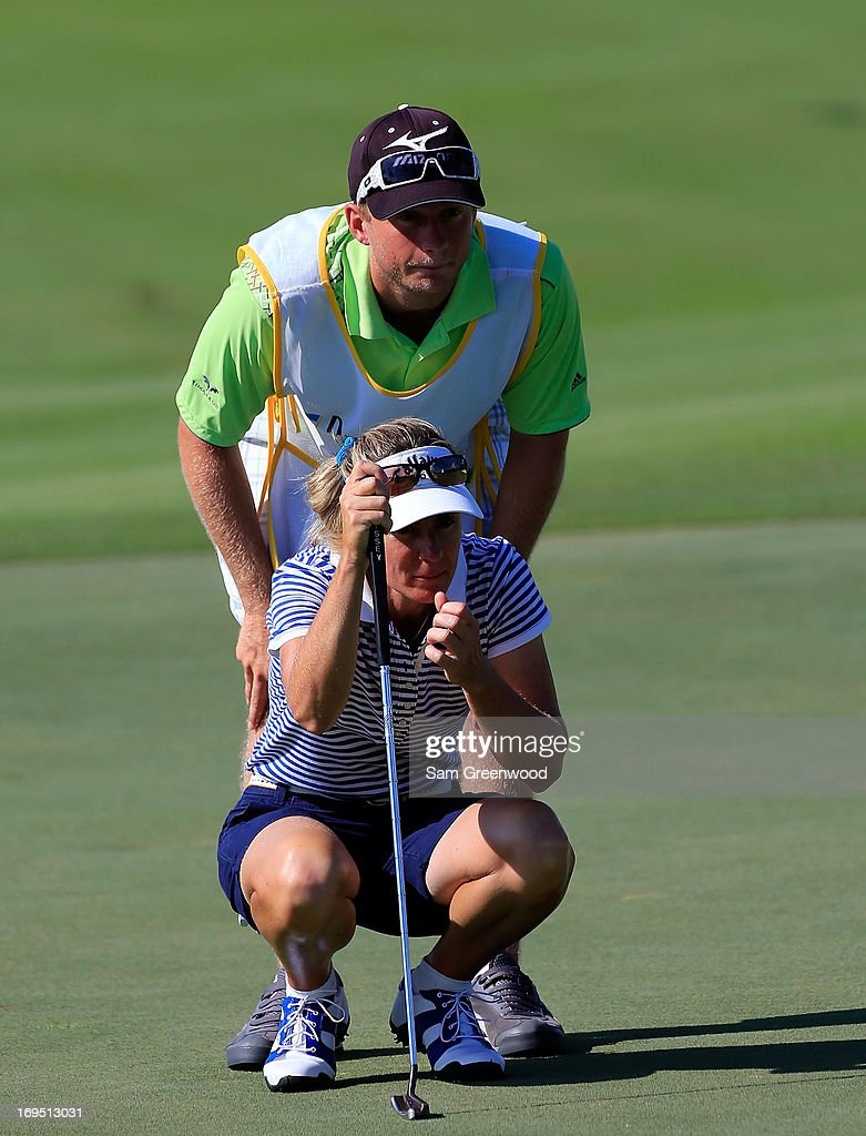 Silvia Callaveri of Italy plays a shot on the 6th hole during the second round of the Pure Silk-Bahamas LPGA Classic at the Ocean Club course on May 25, 2013 in Paradise Island, Bahamas.