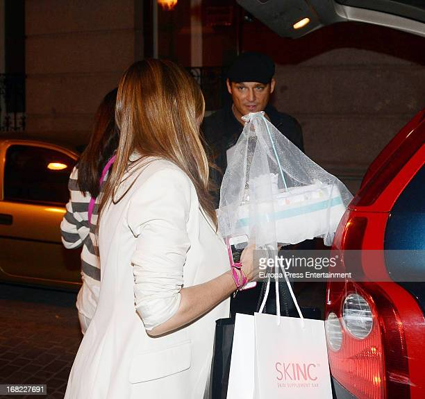 Silvia Casas and Manu Tenorio atttend the babyshower party of Silvia Casas on April 18 2013 in Madrid Spain