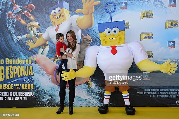 Silvia Casas attend the 'Bob Esponja' Premiere at Kinepolis Cinema on January 31 2015 in Madrid Spain