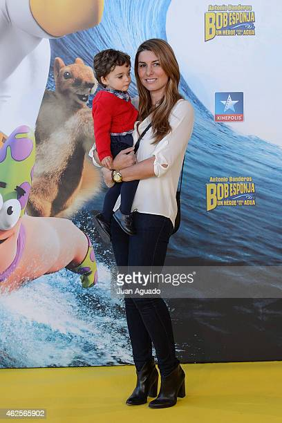 Silvia Casas attends the 'Bob Esponja' Premiere at Kinepolis Cinema on January 31 2015 in Madrid Spain