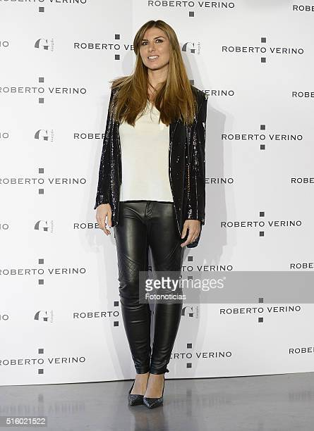 Silvia Casas attends the Roberto Verino new SpringSummer 2016 'Un Balcon al Mar' collection launch at Platea on March 16 2016 in Madrid Spain