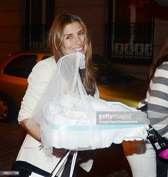 Silvia Casas atttend her babyshower party of Silvia Casas on April 18 2013 in Madrid Spain